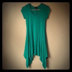 Women's turquoise tunic size medium.